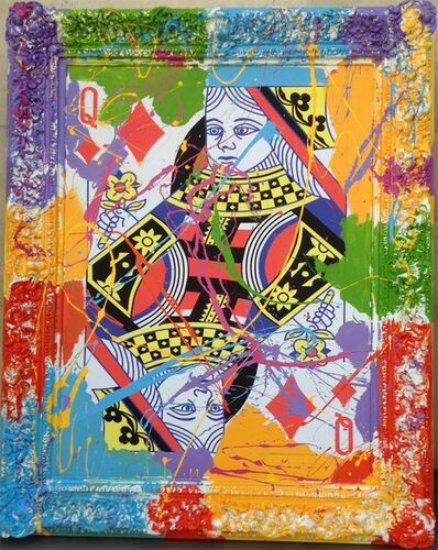 Elena Bulatova, 'Queen of Diamonds  Mixed Media on Canvas  61 x 49 x 3.50 in  $6,800.00', 2019