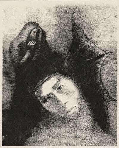 Odilon Redon, 'Quel est le but de tout cela?, from Tentation de Saint-Antoine', 1896