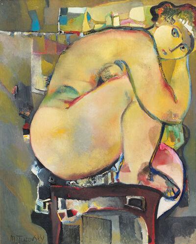 Mikhail Turovsky, 'Seated Nude on Green', ca. 1995