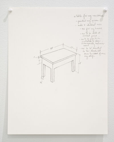 Roy McMakin, 'Untitled (a table for my new house...)', 2015
