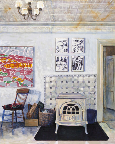 Tessa O'Brien, 'Yellow House Living Room', 2019