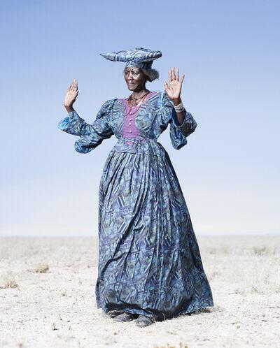 Jim Naughten, 'Herero Woman in Blue Dress', 2012