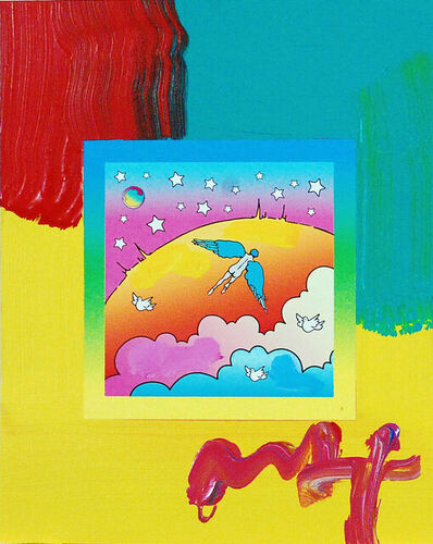 Peter Max, 'Peter Max, Angel Clouds on Blends #402 (Framed Original Painting)', 2009