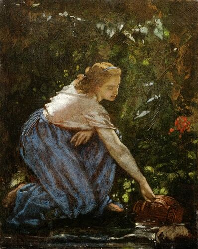 Anselm Feuerbach, 'Jeune fille au ruisseau (Young Girl at a Stream)', ca. 1852