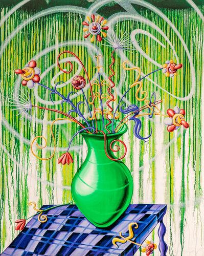 Kenny Scharf, 'Flores Green', 2020