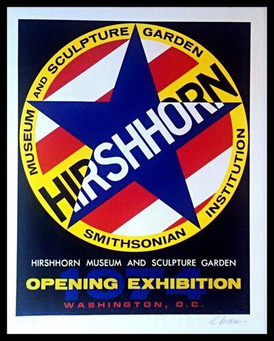 Robert Indiana, 'Hirshhorn Museum & Sculpture Garden Opening Exhibition', 1974