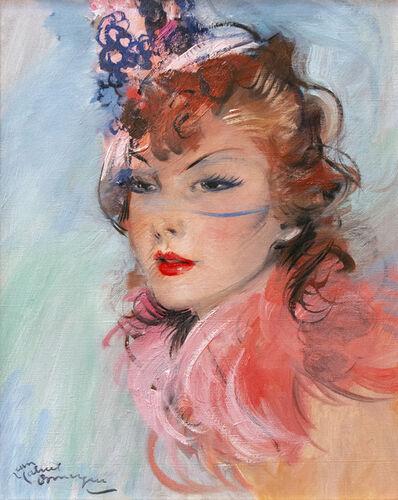 Jean Gabriel Domergue, 'Portrait á la voilette', 1930-1950