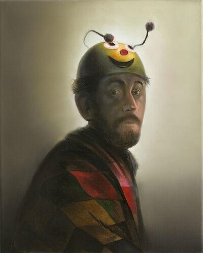 Steve Viezens, 'Schelm mit gelbem Helm', 2015