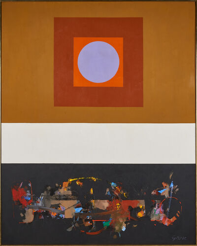 "Sidney Gross, '""Bardo With Black Vertical""'"