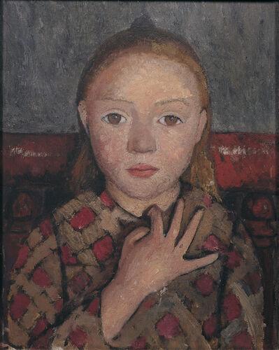 Paula Modersohn-Becker, 'Mädchenbildnis mit gespreizter Hand vor der Brust (Portrait of a Girl with a Hand Spread across Her Chest )', c. 1905