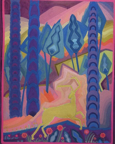 Marguerite Zorach, 'Deer in the Forest', 1914