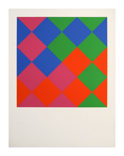 Max Bill, 'Farb-Quadrate', 1967