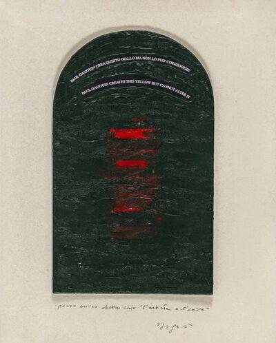 Emilio Isgrò, 'L'artista e l'errore', 1988