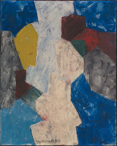 Serge Poliakoff, 'Bleu, blanc, rouge et jaune', 1966
