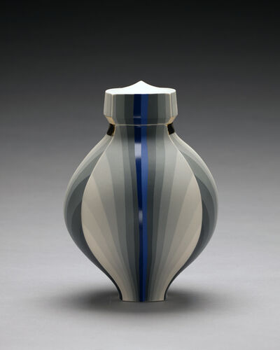 Peter Pincus, 'Greyscale Jar with Blue Band', 2017