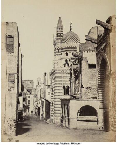 Francis Frith, 'Street View in Cairo from the album Egypt, Sinai, and Jerusalem: A Series of Twenty Photographic Views', 1858