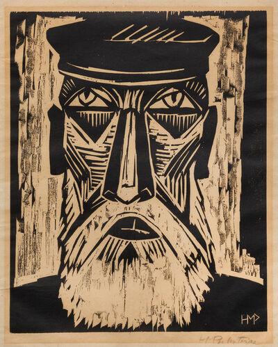 Max Pechstein, 'Fischerkopf IX from Deutsche Künstler', 1921