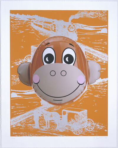 Jeff Koons, 'Monkey Train (Orange)', 2007