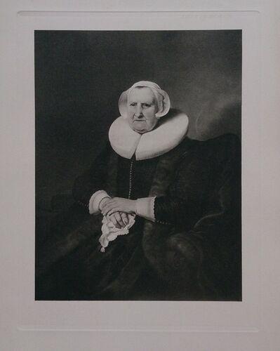 Rembrandt van Rijn, 'Portrait D'Elisabeth Bas', ca. 1910