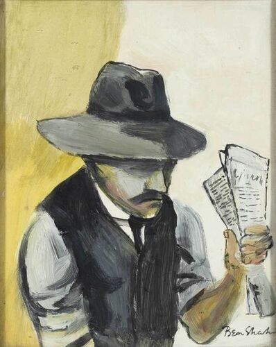 Ben Shahn, 'Man with Newspaper (Study for Judge and Jury)', circa 1940