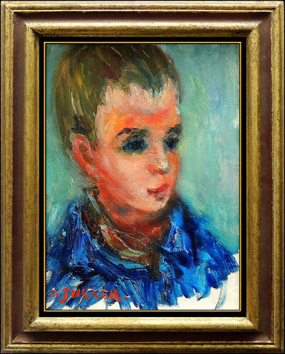 Jacques Zucker, 'JACQUES ZUCKER ORIGINAL Painting Oil on Canvas Child Portrait Artwork Signed SBO', 20th Century