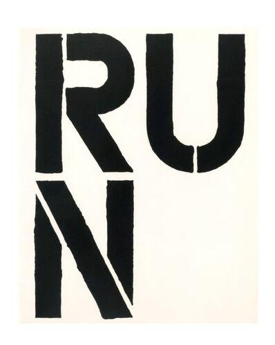 Christopher Wool, 'RUN', 1989