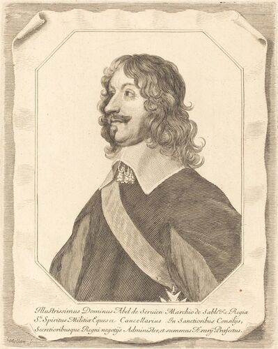 Claude Mellan, 'Abel Servien', in or after 1659