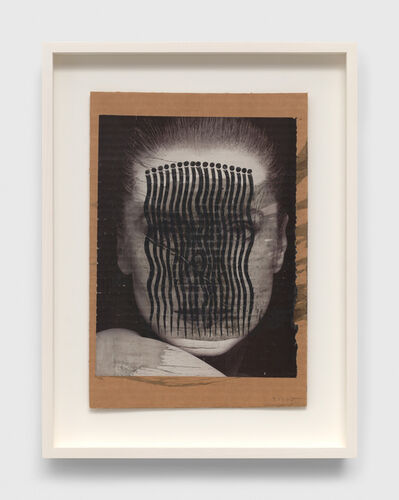 Ray Johnson, 'Untitled (Catherine Deneuve with Bridget Riley's Comb)', 1994