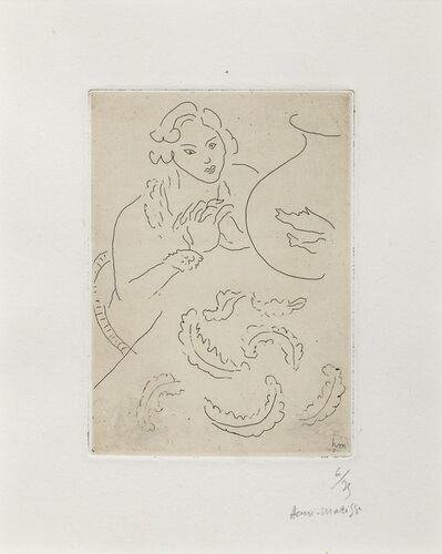 Henri Matisse, 'Figure mains jointes et nappe à décor persan', 1929