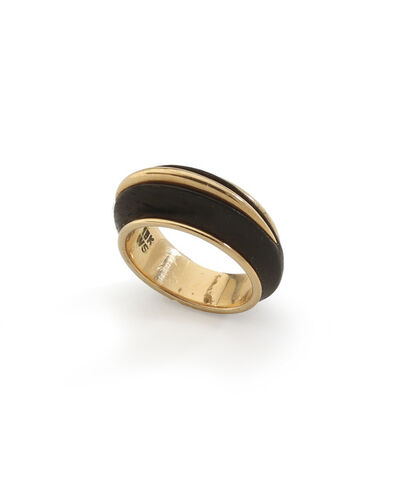 William Spratling, 'A William Spratling 18k yellow gold and wood ring'