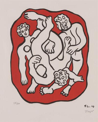 After Fernand Léger, 'Les Acrobates Sur Fond Rouge'