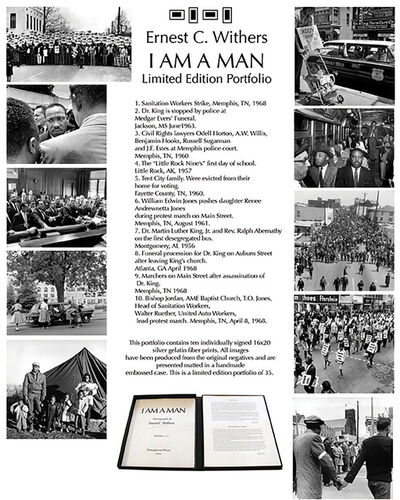 Ernest Withers, 'I AM A MAN (Civil Rights)portfolio, 1950's-60's', printed later
