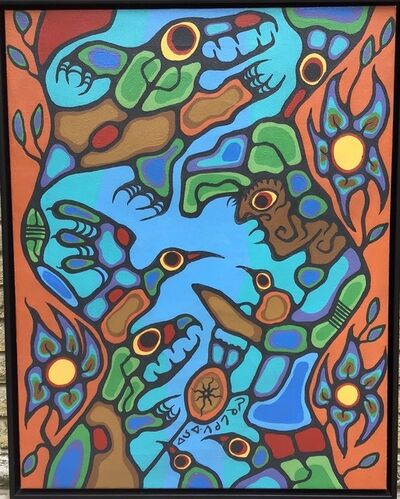 Norval Morrisseau, 'Dance of the Morning Glory ', 1978