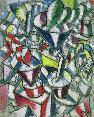 Fernand Léger, 'Nature morte aux cylindres colorés (Still Life with Coloured Cylinders)', 1913