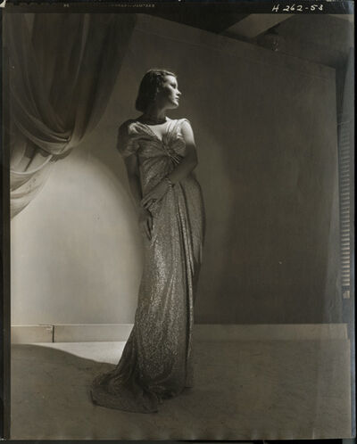 Horst P. Horst, 'Vionnet ball-dress in silver lamé', 1935