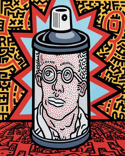 Speedy Graphito, 'Haring Spray Can', 2020