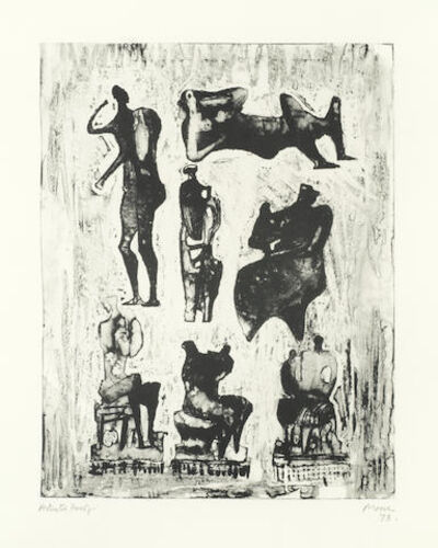 Henry Moore, 'Seven Sculptural Ideas ', 1973