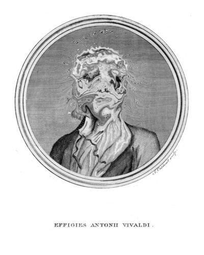 Rémi Dal Negro, 'Effigies Antonii Vivaldi Ibanez Jemini Distortion', 2015