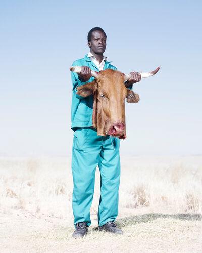 Jim Naughten, 'Herero Man with Cow's Head', 2012
