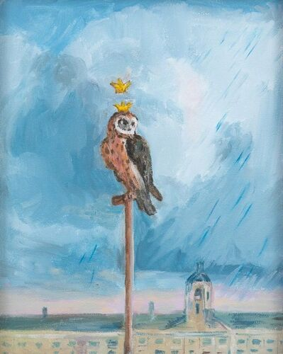 Karen Kilimnik, 'the owl, town watch, the flood approaches', 2017