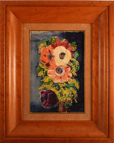 Moise Kisling, 'Bouquet of flowers with mimosas', ca. 1937