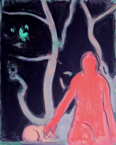 Paul Resika, 'Red Nude, Night', 2003