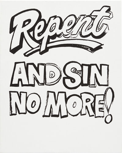 Andy Warhol, 'Repent and Sin No More!', ca. 1985-1986