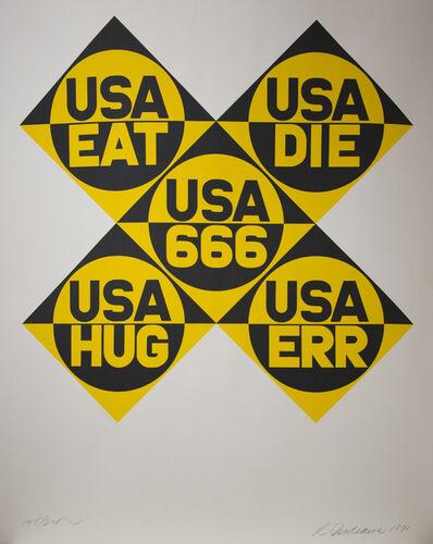 """Robert Indiana, 'USA 666, from """"Dedicate""""', 1971"""