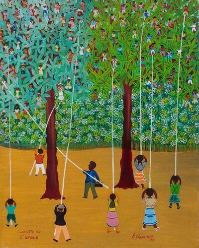 Etienne Chavannes, ''Cueillette de l'amour' (Children in Trees )', ca. 1970's