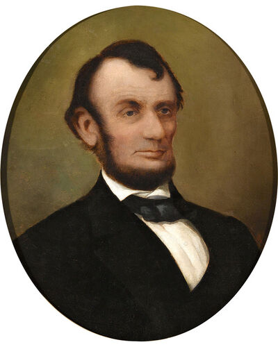 David Bustill Bowser, 'Abraham Lincoln – A Portrait', 1865