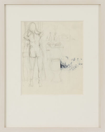 Elaine de Kooning, 'A Nude Woman at a Sink in a Bathroom', c. 1970
