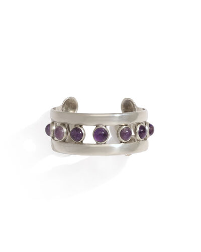 Hector Aguilar, 'A Hector Aguilar sterling silver and amethyst cuff bracelet', 1943-1948