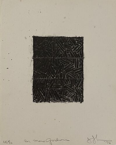 Jasper Johns, 'Bookplate for David Grainger Whitney', 1976