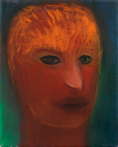 Miriam Cahn, 'denkender soldat', 2000
